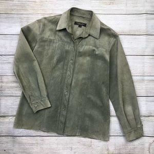 womens GOLDEN BEAR SPORTSWEAR leather shirt jacket